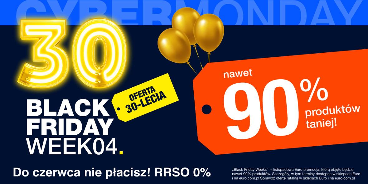 RTV EURO AGD: Do -90% na Black Friday Week 13.11.2020