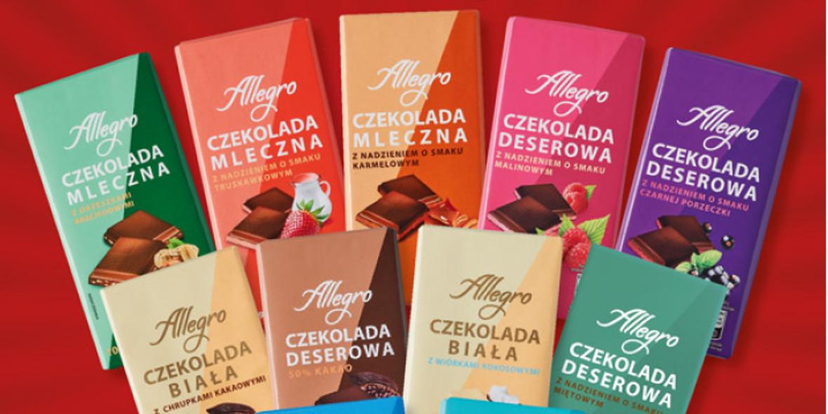 Biedronka: 1,29 zł za czekoladę Allegro 12.04.2021