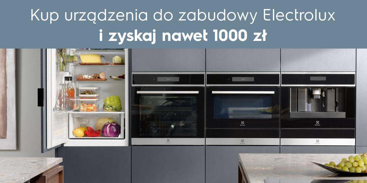 zwrotu za zakup produktów do zabudowy Electrolux
