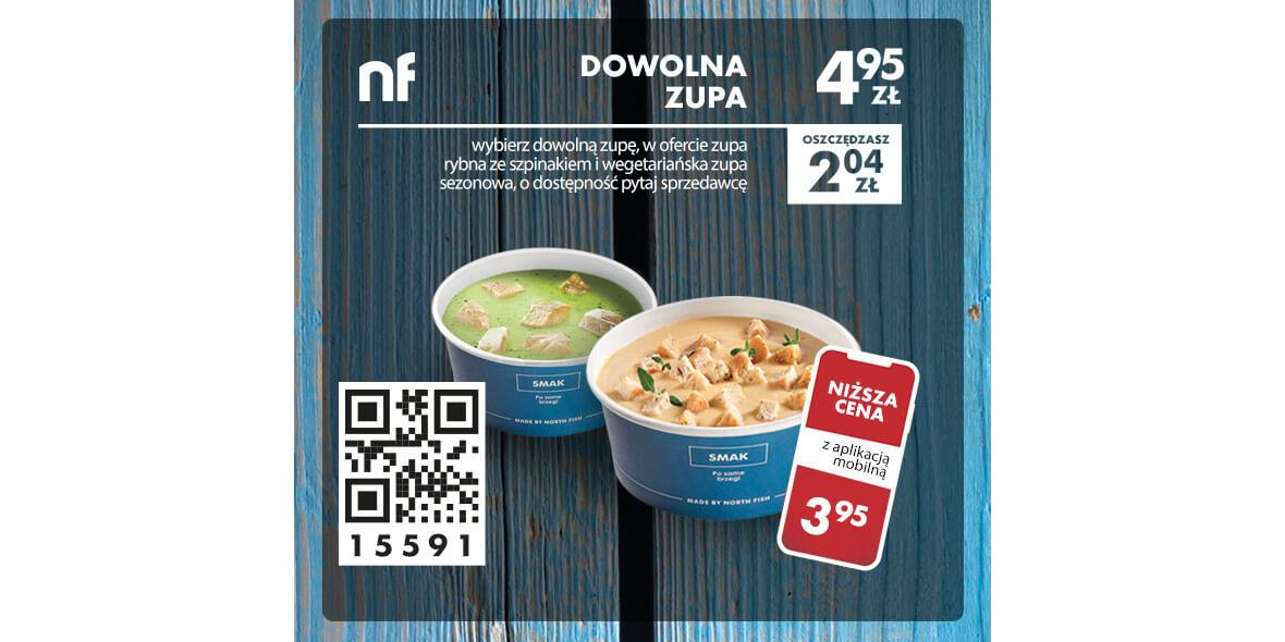 North Fish: 4,95 zł dowolna zupa 06.07.2020