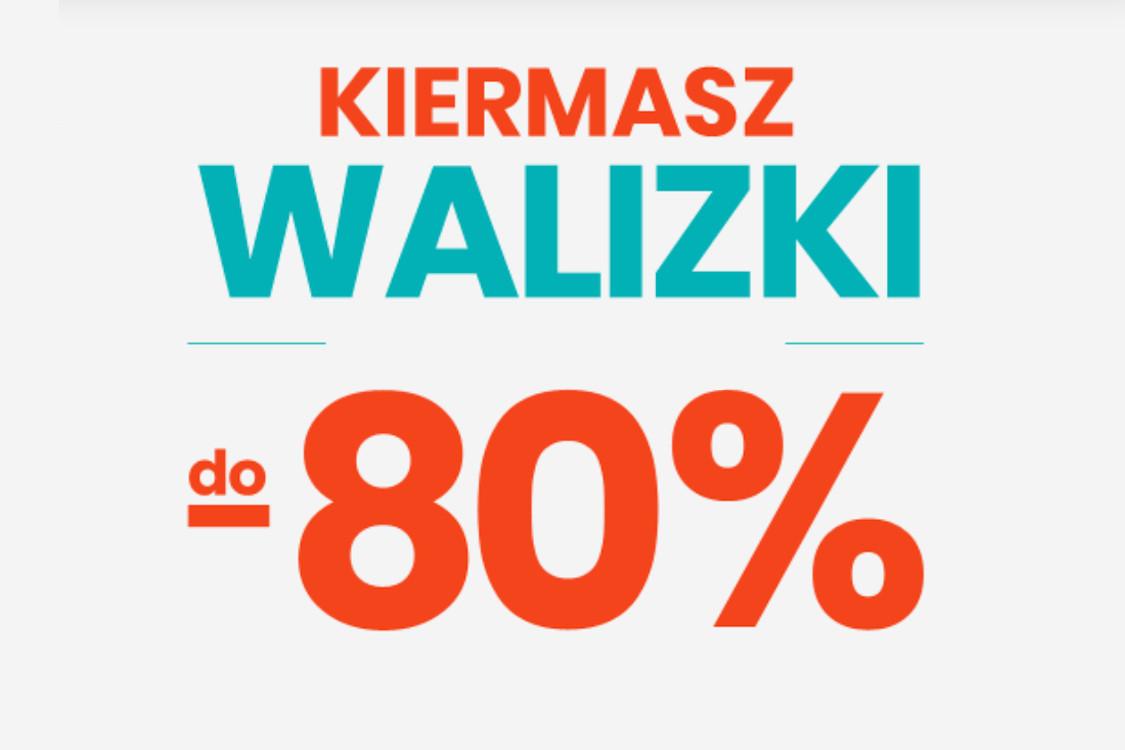 Do -80% na walizki