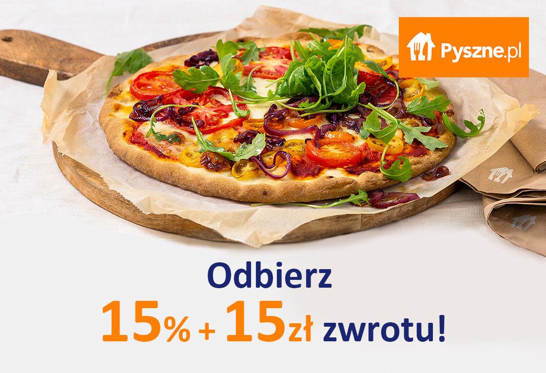 Odbierz 15% + 15zł zwrotu za zamówienie