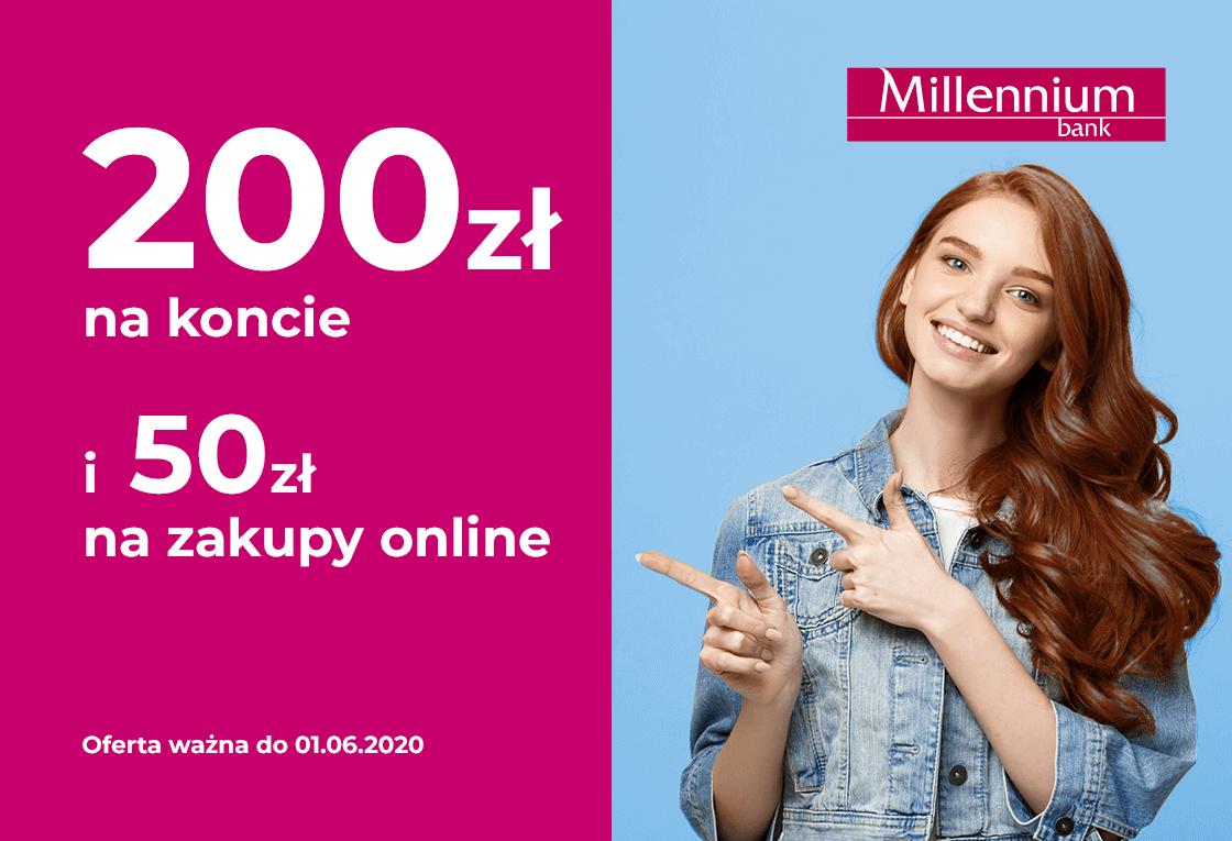 200 zł na koncie i 50 zł na zakupy online