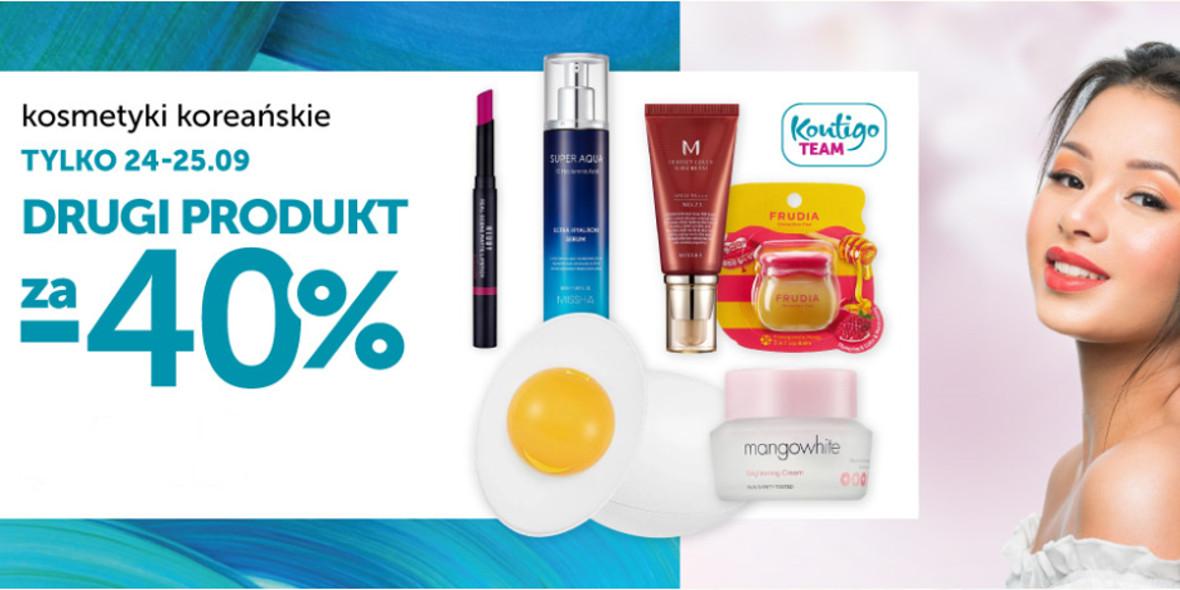 Rabat 40% na kosmetyki koreańskie