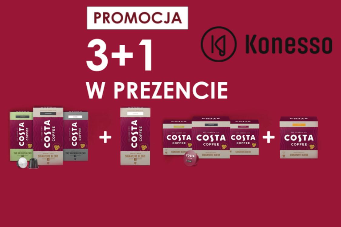 3 + 1 w prezencie - kawy w kapsułkach Costa Coffee