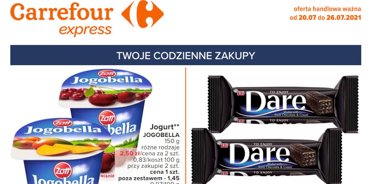 Carrefour Express: Gazetka Carrefour Express - codzienne zakupy 2021-07-20