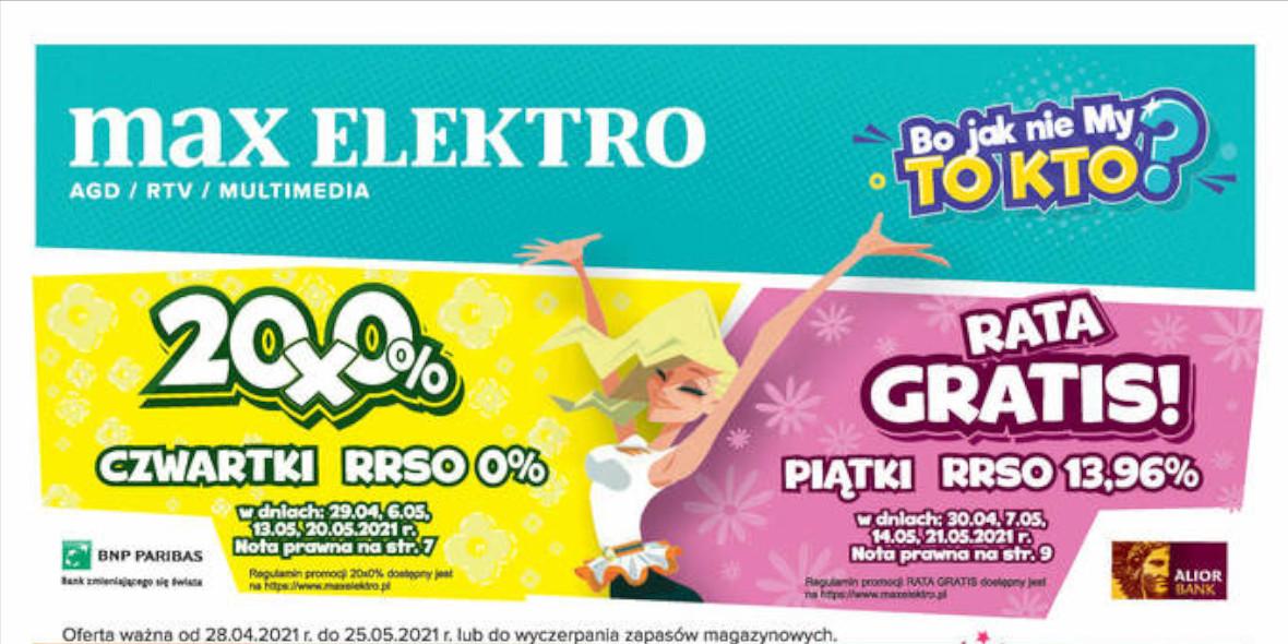 Max Elektro.pl: Gazetka promocyjna - Maj od 28.04. 2021-04-28