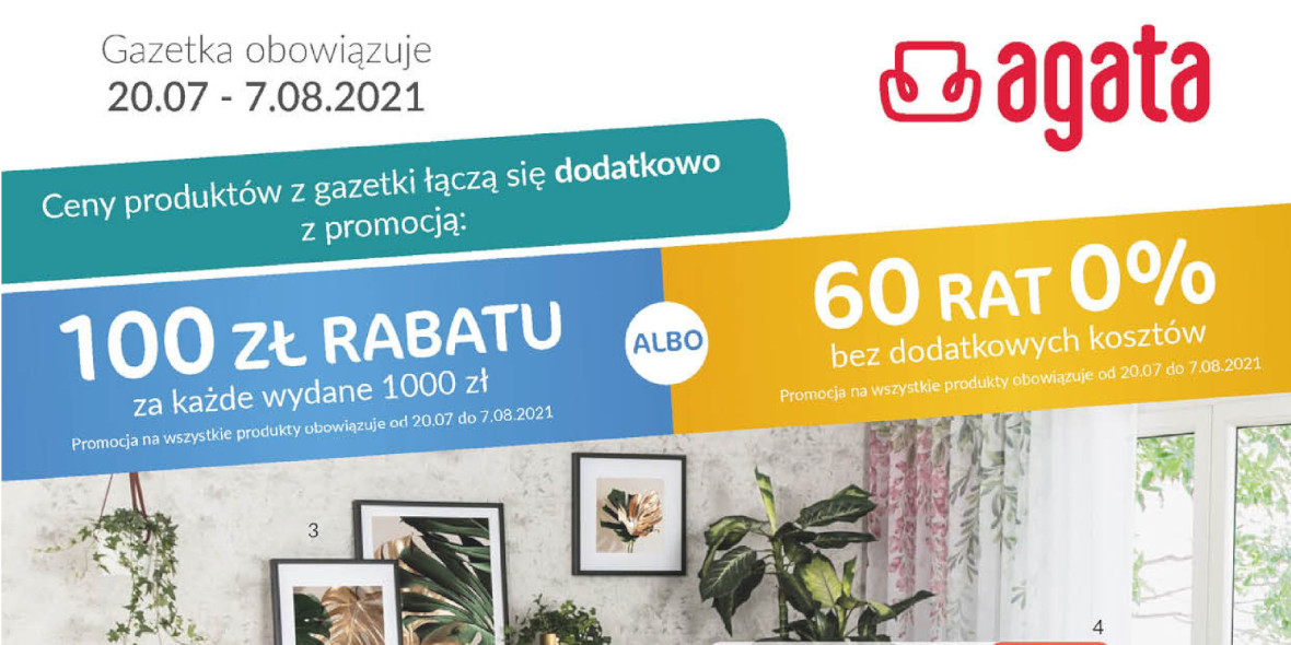 Agata Meble: Gazetka Agata Meble 2021-07-20