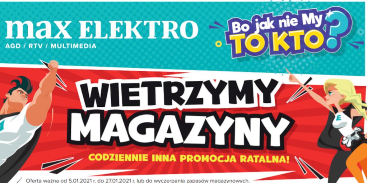 Max Elektro.pl: Gazetka - Styczeń 2021-01-05